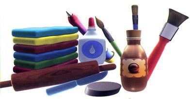 Material de manualidades como un instrumento de aprendizaje para los niños