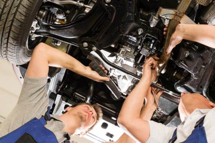 Problemas en  la barra de suspensión del automóvil